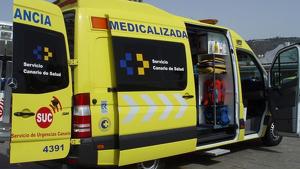 Un hombre sufre una amputación al ser atropellado en Valleseco, Gran Canaria