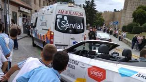 Un vehículo de La Vuelta ha atropellado un menor en Ávila