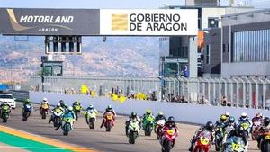 Una carrera de motociclismo en Motorland Aragón