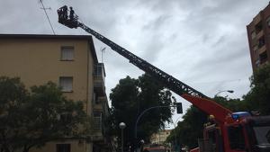 Una de les intervencions dels bombers en Alacant este dijous
