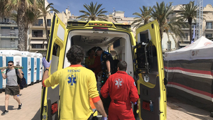 Una persona de 82 anys ha perdut la vida aquest dimarts en una platja de Sitges