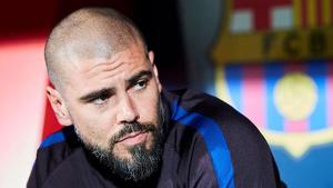 Victor Valdés, expulsat en el seu primer partit a casa amb el Juvenil A