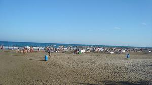 Vista de la platja a on s'ha ofegat l'home