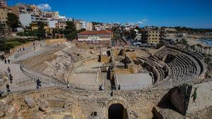 Vista general de l'Amfiteatre de Tarragona, símbol de la Tarraco romana