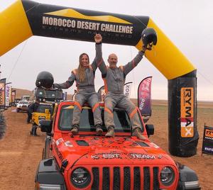 Zemankova i Queraltó, en finalitzar el Morocco Desert Challenge
