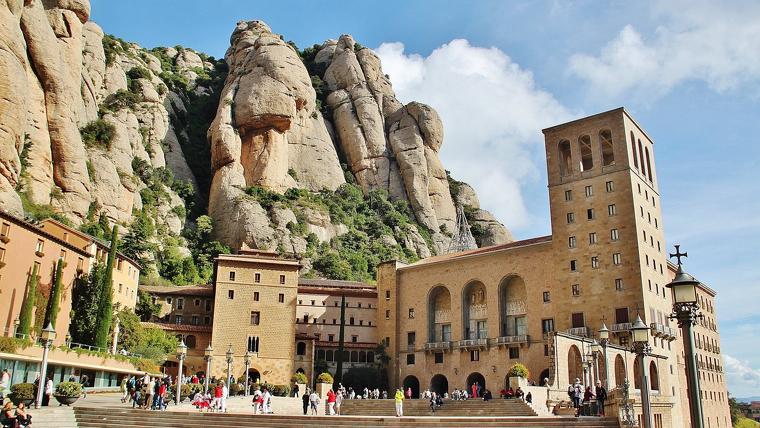 Imatge de l'abadia de Montserrat