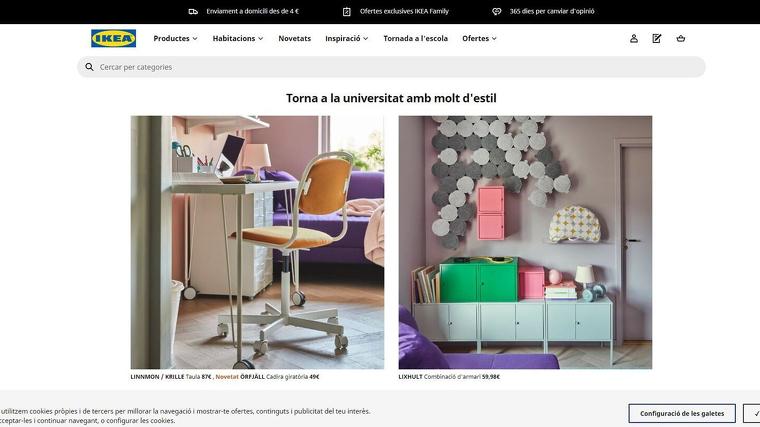 Ikea torna a oferir la seva pàgina web en català