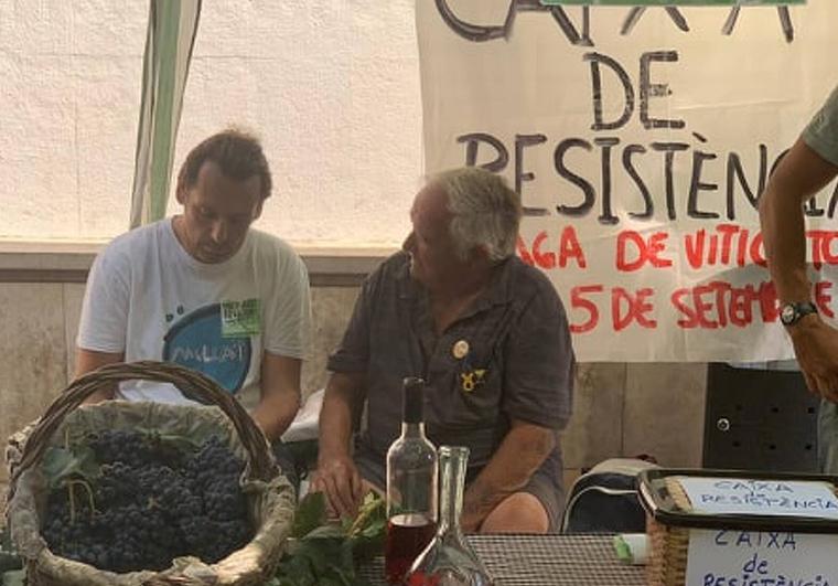 Pep Riera en un moment de l'entrevista aquest dissabte a Vilafranca del Penedès