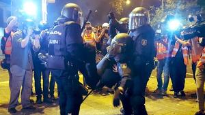 Agente herido en Barcelona