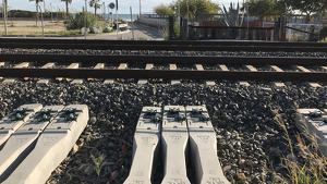 Al punt on Roda de Berà i Creixell volen construir el baixador ferroviari, s'estan preparant les obres del tercer fil.
