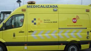 Ambulancia de soporte vital del Servicio de Urgencias Canario (SUC)