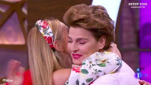 Antonia Dell´Atte y Ana Obregón se abrazaron
