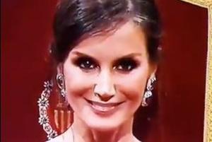 Captura de pantalla del vídeo viral de la reina Letícia