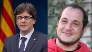 Carles Puigdemont i David Fernández, els líders de Tsunami Democràtic segons 'El Confidencial'