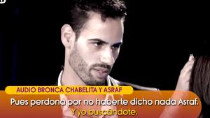 Chabelita pide perdón a Asraf por haberse ido sin avisar