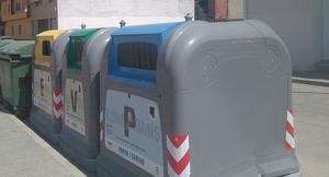 Contenidors de reciclatge d'Almacelles