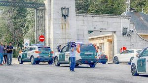 Cotxes de la Guàrdia Civil han entrat al Valle de los Caídos