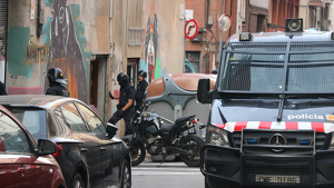 Desallotjament d'una casa okupa a Barcelona