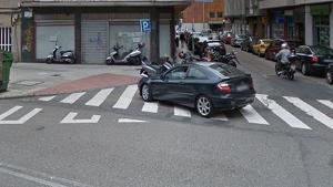 El accidente tuvo lugar en la intersección entre Avenida de Fragoso y la calle Tranviarios de Vigo