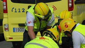 El conductor herido fue atendido por personal del SUC
