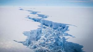 El iceberg se desprendió de la plataforma de hielo Amery