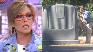 El marido de Lydia Lozano va en coche a tirar la basura