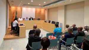 El ple de l'Ajuntament del Catllar, amb les absències dels regidors del PSC i Ciutadans.