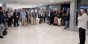 El president de l'Associació Hotelera Salou-Cambrils-La Pineda, Xavier Roig, adreça unes paraules als assistents al sopar.