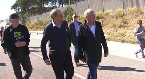 El president Quim Torra s'ha unit a una marxa independentista a Girona