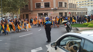 Els agents de la Guàrdia Urbana de Reus, principalment motoristes, han gestionat el trànsit durant les manifestacions