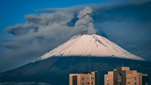 Explosión del volcán Popocatépetl este miércoles