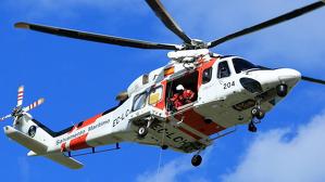 Helicòpter utilitzat per Salvament Marítim.