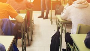 Imagen de archivo de una aula