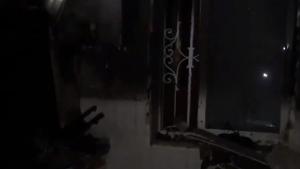 Imagen de como quedó la cocina tras el incendio