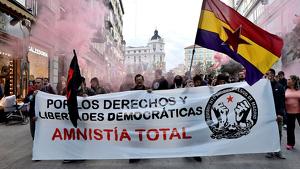 Imagen de la manifestación que se ha llevado a cabo en Madrid.