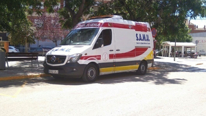 Imagen de una ambulancia del SAMU de la Comunidad Valenciana