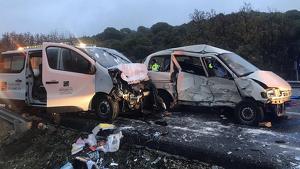 Imagen del accidente en Navas del Rey