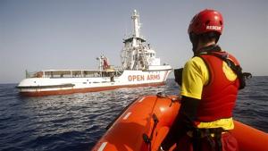 Imagen del barco 'Open Arms' en España.