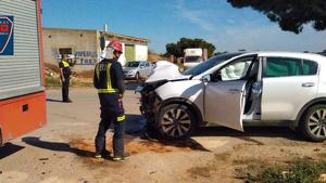Imagen del estado de uno de los vehículos tras el accidente