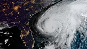 Imagen del huracán Humberto