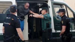 Imagen del preso fallecido durante un traslado