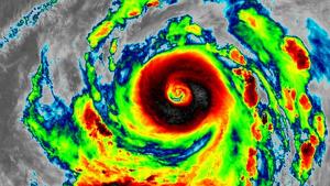 Imagen del tifón des del satélite Himawari-8