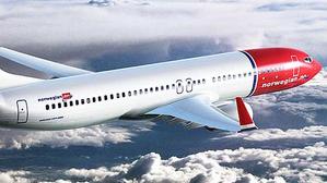 Imatge d'arxiu d'un avió de la companyia Norwegian Airlines