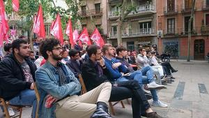 Imatge d'arxiu d'una assemblea del Partit Comunista dels Treballadors de Catalunya.
