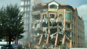 Imatge de com ha quedat aquest conegut hotel de les Filipines després del terratrèmol