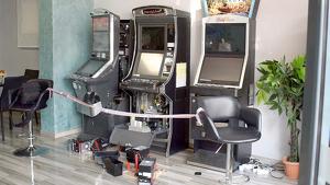 Imatge de diverses màquines escurabutxaques, forçades pels lladres