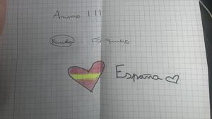 Imatge de la carta, escrita per una nena de 12 anys