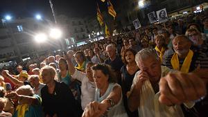 Imatge de la concentració, a la plaça del Mercadal de Reus