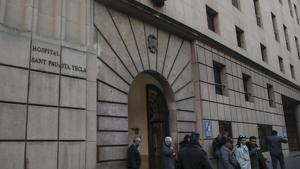 Imatge de la façana de l'hospital de Santa Tecla de Tarragona.