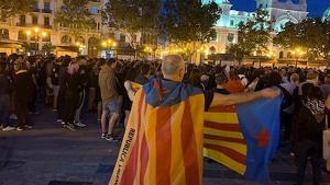 Imatge de la manifestació independentista de València del 20 d'octubre